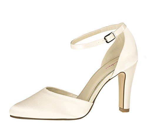 Rainbow Club Brautschuhe Dana - Ivory Satin - Pumps Damen