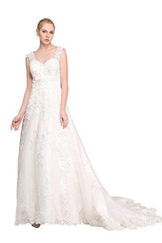 Brautkleid mit Rückenansicht und Schleppe Ivory