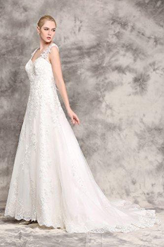 Brautkleid mit Rückenansicht und Schleppe Ivory - 5