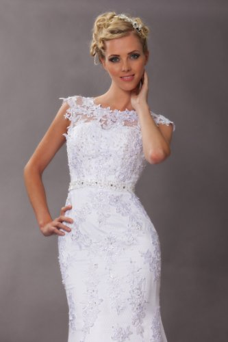 Vintage Meerjungfrau Brautkleid Hochzeitskleid Weiß - 4