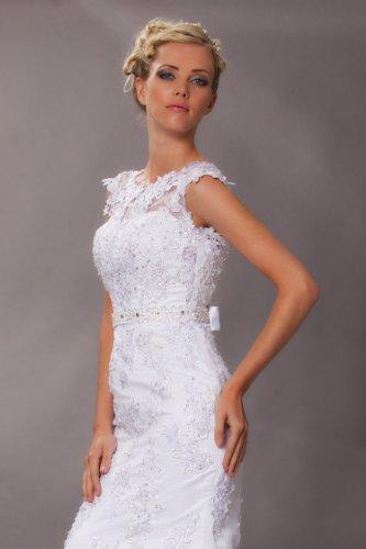 Vintage Meerjungfrau Brautkleid Hochzeitskleid Weiß - 5