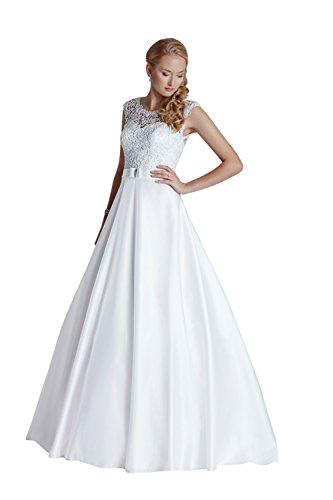 Brautkleid Vintage // Hochzeitskleid mit Spitze (ivory/creme)