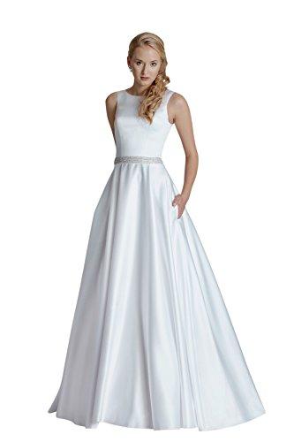 Brautkleid Vintage // Hochzeitskleid mit Strassgürtel (weiß)
