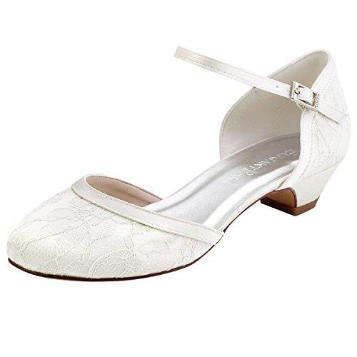 Elegantpark // Brautschuhe mit diesem niedrigen Absatz (Ivory oder Weiß)