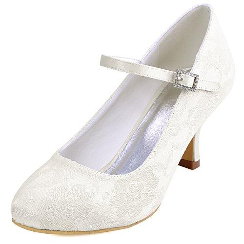 Elegantpark // Brautschuhe Stiletto // Runde Geschlossene (Ivory oder Weiß)