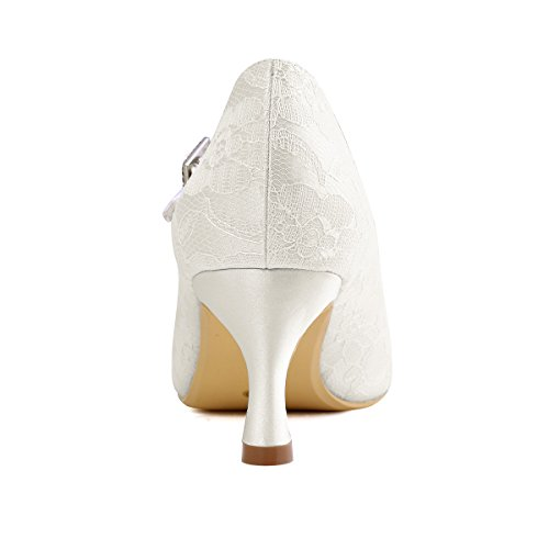 Elegantpark // Brautschuhe Stiletto // Runde Geschlossene (Ivory oder Weiß) - 6