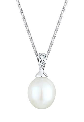Diamore Damen Halskette 925 Sterling Silber Diamant 45.0 cm weiß 0109142713_45