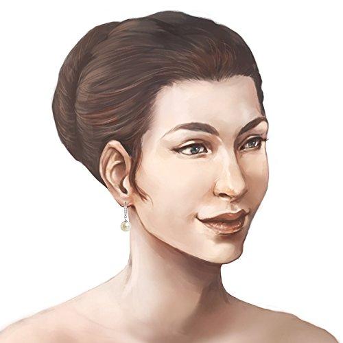 Schöner SD, Schmuckset Perlen weiß Anhänger, Kette und Ohrhänger besetzt mit Zirkonia, 925 Silber Rhodium - 3