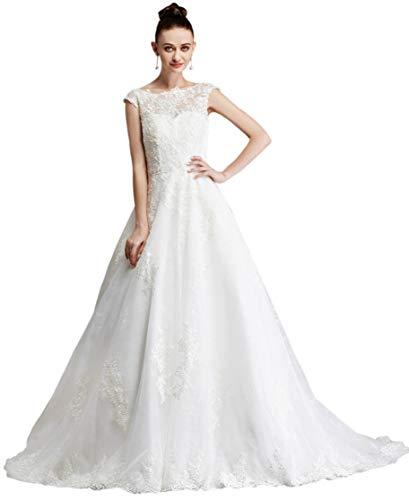 Brautkleid mit Spitze und Mieder