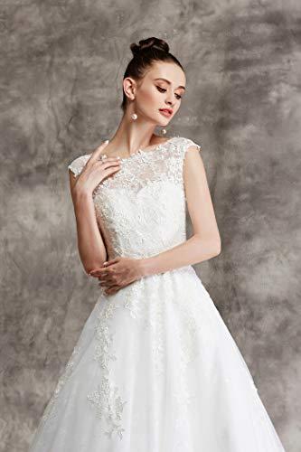 Brautkleid mit Spitze und Mieder - 6