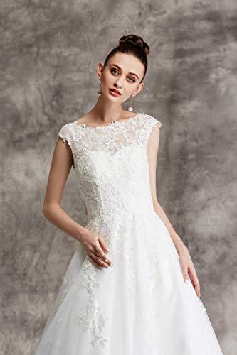 Brautkleid mit Spitze und Mieder - 7