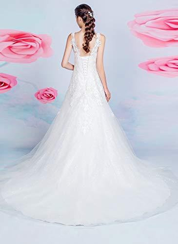 Brautkleid mit A-Linie-Silhouette und V-Ausschnitt - 5