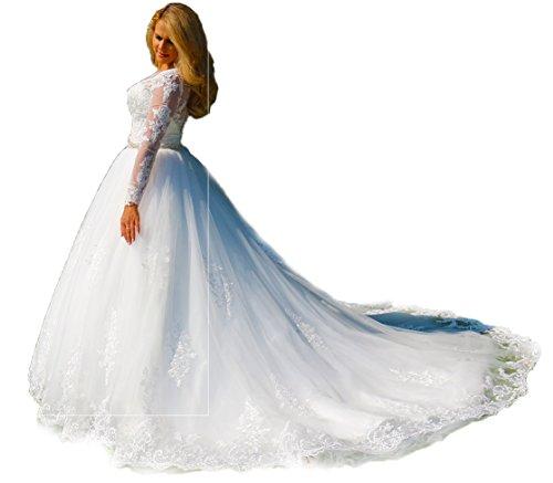 Luxus Brautkleid Hochzeitskleid // Spitze mit Ärmel Prinzessin Brautkleid
