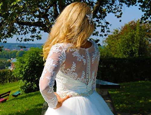Luxus Brautkleid Hochzeitskleid // Spitze mit Ärmel Prinzessin Brautkleid - 3