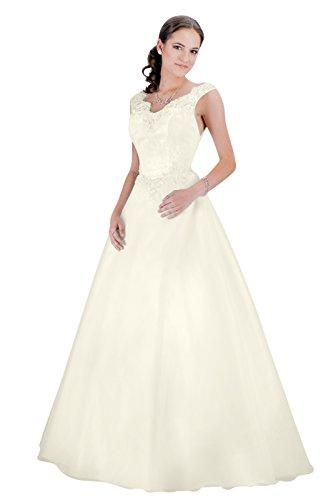 Brautkleid - Hochzeitskleid - A-linie (ivory/creme)