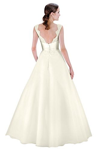 Brautkleid – Hochzeitskleid – A-linie (ivory/creme) - 2
