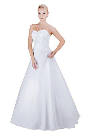 Romantisches Brautkleid mit Spitze (weiß)