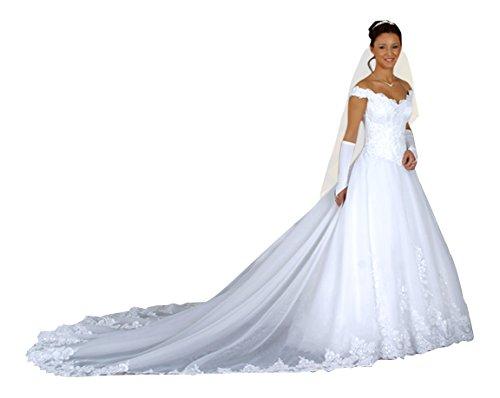 Brautkleid Dajana mit Schleppe, weiß, inkl. Maßanfertigung