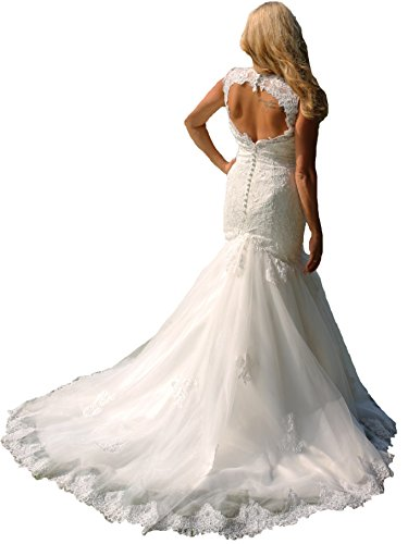 Luxus Brautkleid Hochzeitskleid Spitze // Meerjungfrau // Herzausschnitt