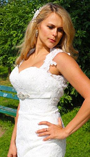 Luxus Brautkleid Hochzeitskleid Spitze // Meerjungfrau // Herzausschnitt - 3