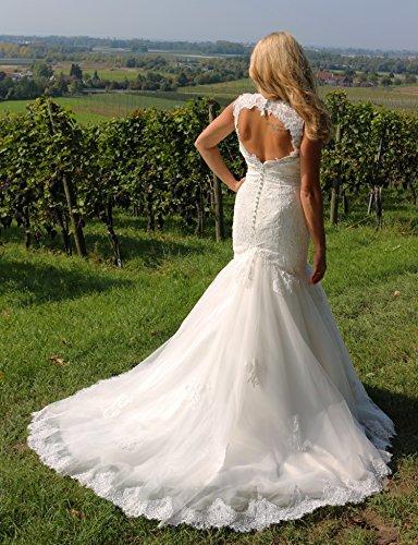 Luxus Brautkleid Hochzeitskleid Spitze // Meerjungfrau // Herzausschnitt - 5