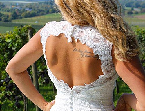 Luxus Brautkleid Hochzeitskleid Spitze // Meerjungfrau // Herzausschnitt - 7