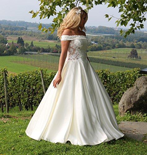 Luxus Brautkleid Hochzeitskleid Weiß nach Maß - 7