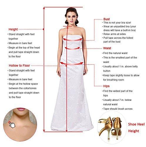 Milano Bride Vintage Damen Aermellos Herzform Hochzeitskleider Brautkleider Brautmode Damen mit Spitze Schleppe-40-Elfenbein - 5