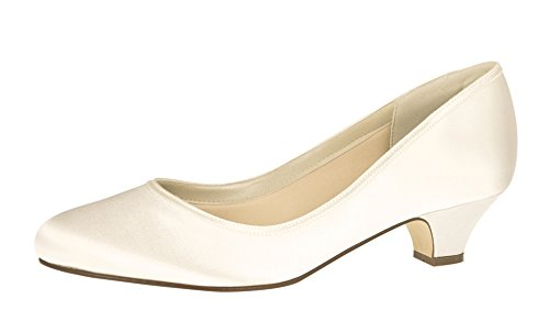 Rainbow Club Brautschuhe Paula - Ivory Satin - Pumps