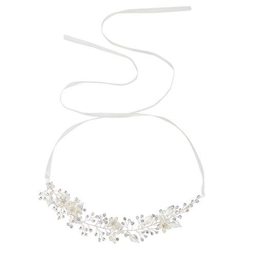 Brautschmuck Vintage Kristall Pearl Vine Haarbänder Hochzeit Haar Zubehör Silber