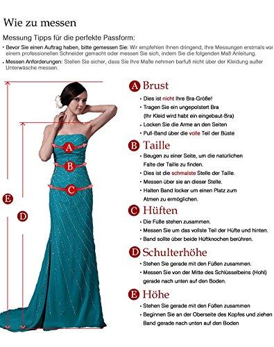 Erosebridal Ärmellos Spitze Chiffon Hochzeitskleid Brautkleid Elfenbein DE36 - 6
